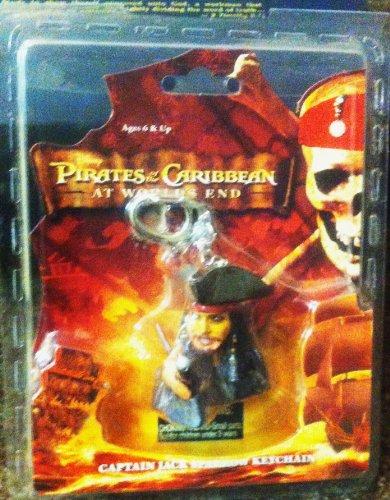 Disney Pirates of the Caribbean Dead Man's Chest Captain Jack Sparrow Keychain