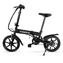 Nilox Doc X2, Bicicletta Pieghevole a Pedalata Assistita, Velocità 25km/h, Nero