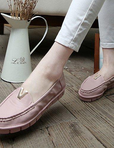 Zapatos Rosa Vestido mujer uk6 uk6 pink us8 us8 cn39 cn39 gyht eu39 eu39 uk6 de Blanco Exterior Comfort ZQ white cn39 eu39 Tacón pink Plano Casual Microfibra Mocasines us8 7x5TAz