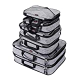 Compression Packing Cubes Travel Luggage Suitcase Organizer 6 Set