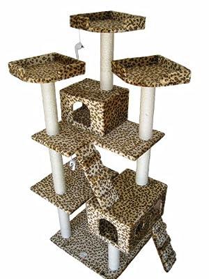 GoPetClub Cat Tree Toy Condo Scratcher Post Pet Furniture F2038 by Go Pet Club