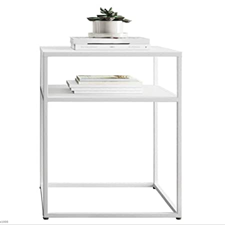 68285c98032d1 NAN Modern 2 Tier Black White Hallway Console Table Stainless Steel Frame  Entryway Furninture (Color   White)  Amazon.co.uk  Kitchen   Home