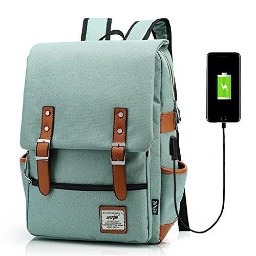 Junlion Unisex Business Laptop Backpack College Student School Bag Travel...