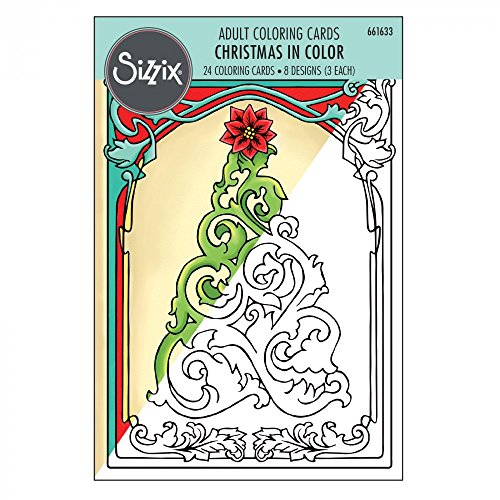 Sizzix 661633 Christmas Coloring Cards by Jen Long -