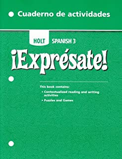 Amazon expresate spanish 3 9780030453724 rinehart and expresate holt spanish 3 cuaderno de actividades activity book fandeluxe