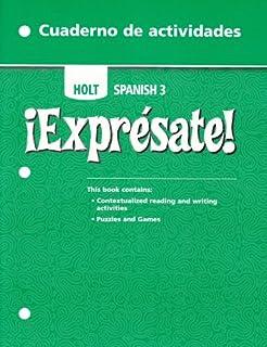 Amazon expresate spanish 3 9780030453724 rinehart and expresate holt spanish 3 cuaderno de actividades activity book fandeluxe Choice Image