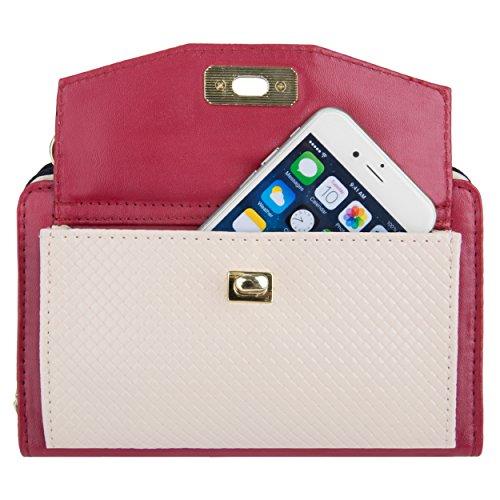 Women's Wallet Note Cream Venice for VanGoddy Clutch Note Wine Galaxy Samsung 4 5 Edge amp; Eq0Fn5wxH