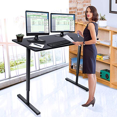 "48"" Adjustable Sit to Stand Up Desk with Crank Handle Only $189.99 (Was $299.99)"