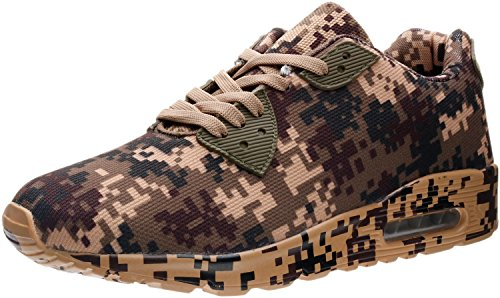 PORTANT Men's Air On Sale Lifestyle Footwear Training Shoe Camo Fashion Classic Sneaker Male All-In-One Gym Shoes For Indoor And Outdoor Fitness Camouflage Max Brown, Army Green, Black 9 D(M) US