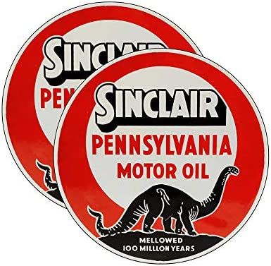 "SINC-4 3/"" SINCLAIR GASOLINE DECALS GAS AND OIL"