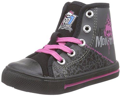 Monsterhigh Girls Kids High Sneakers, Mädchen Hohe Sneakers, Mehrfarbig (NH3 D.GREY/BLACK), 26 EU