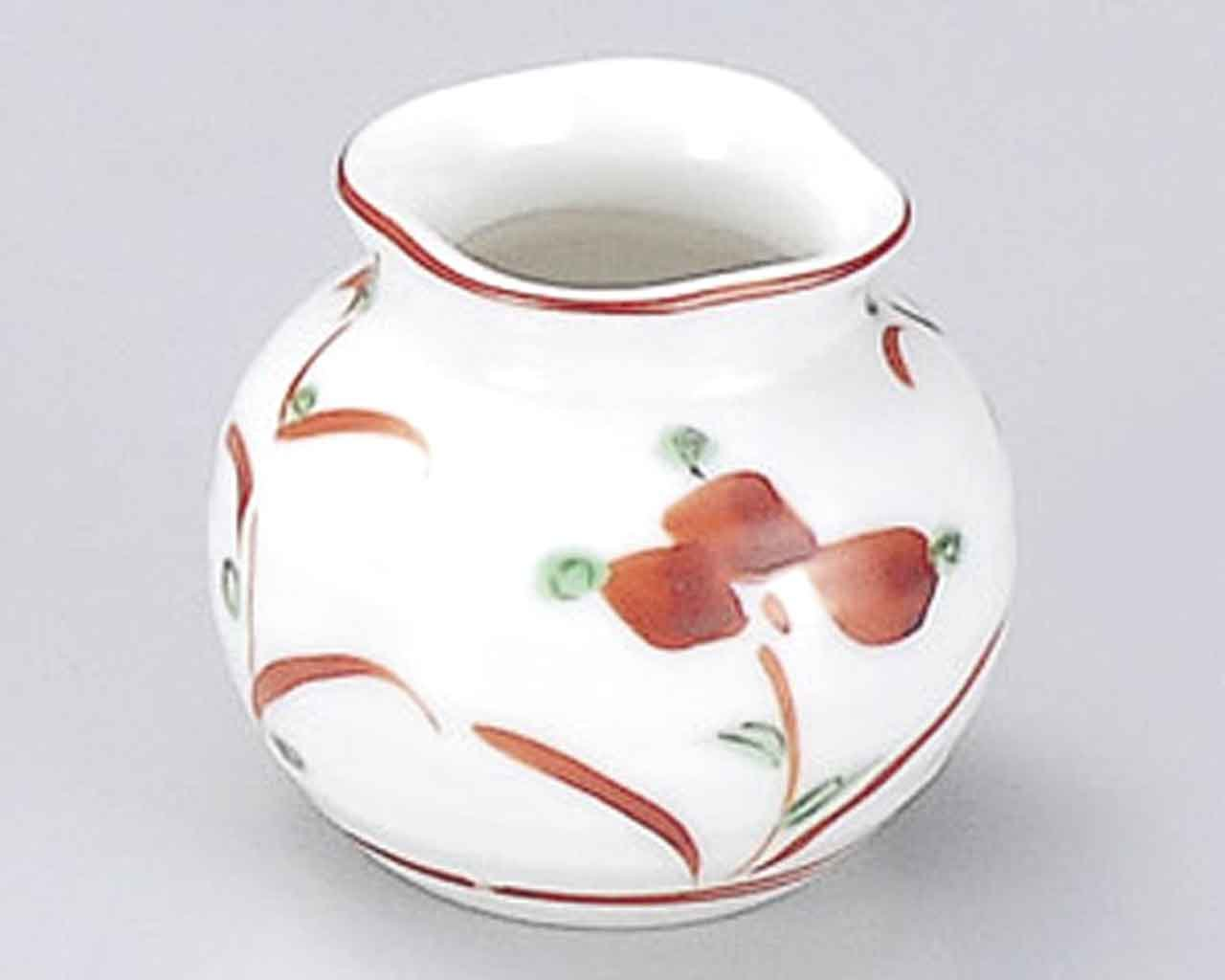 Akae Flower 2inch Set of 5 Toothpick holders White porcelain Made in Japan