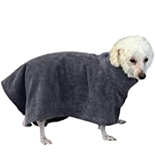 Zaote Soft Pet Dog Bath Robe Super Water Absorbent Dog Bathing Towel Quick Drying Bathrobe for Pet Dogs