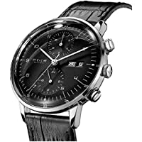 FEICE Men's Automatic Watch Multi-Function Mechanical Watch Dual Time Analog Wristwatch Calendar Casual Dress Watches for Men #FM121
