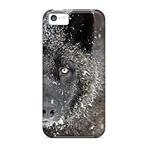 iphone 5 / 5s PC phone cases High Grade Hybrid black timber wolf