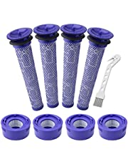 Lemige 4 Pack Pre-Filters and 4 Pack HEPA Post-Filter Replacements Compatible with Dyson V7, V8 Animal and Absolute Cordless Vacuum, Compare to Part 965661-01 and 967478-01
