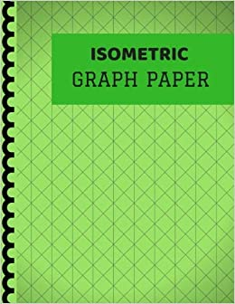 isometric graph paper green cover isometric notebook with grid of