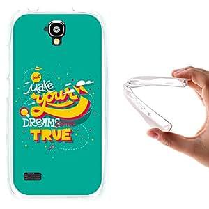 WoowCase - Funda Gel Flexible { Huawei Y5 - Y560 } Frase - Just Make Your Dreams Come True Carcasa Case Silicona TPU Suave