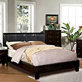 Best 247SHOPATHOME Kings Furniture King Size Beds - Villa Contemporary Espresso Leatherette King Size Platform Bed Review