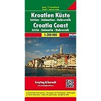 Kroatien Küste - Istrien - Dalmatien - Dubrovnik, Autokarte 1:200.000, freytag & berndt Auto + Freizeitkarten