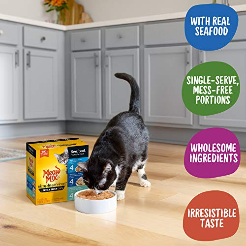 Meow Mix Simple Servings Wet Cat Food, 1.3 Ounce Cups 4