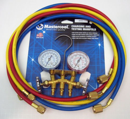 35772 Mastercool Air Conditioning Hvac Refrigeration Manifold W/ 72 Hoses New