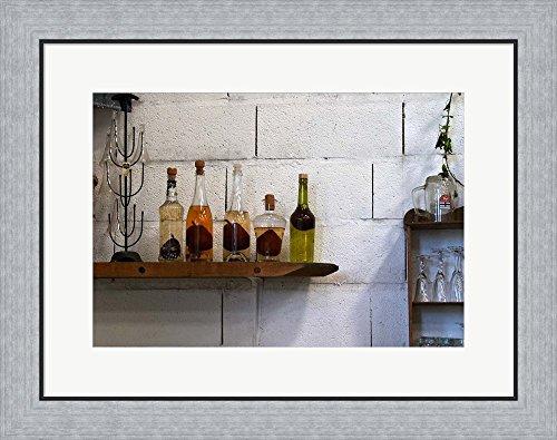 Collection of Pear Eau-de-Vie, Champagne Francois Seconde by Per Karlsson / Danita Delimont Framed Art Print Wall Picture, Flat Silver Frame, 26 x 20 (Pear Eau De Vie)