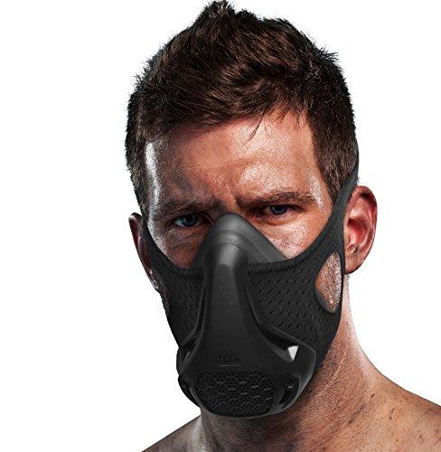 TEC Workout Training Mask - 16 Breathing Levels, Gain Benefits of High Altitude Elevation Training for Running, Biking, Cardio, Sports; Increases Strength, Endurance, Stamina [+ Free Bonus Carry - Training Running Elite