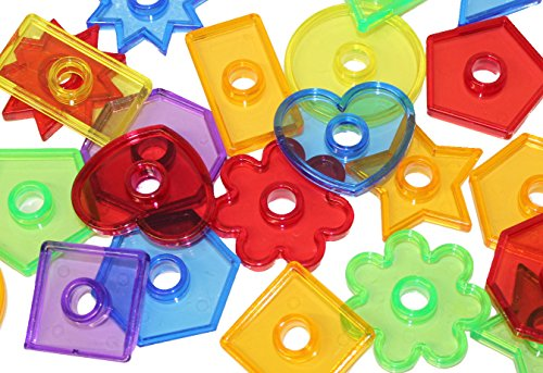 Curious Minds Busy Bags Set of 24 Transparent Large Shape Beads/Buttons 2