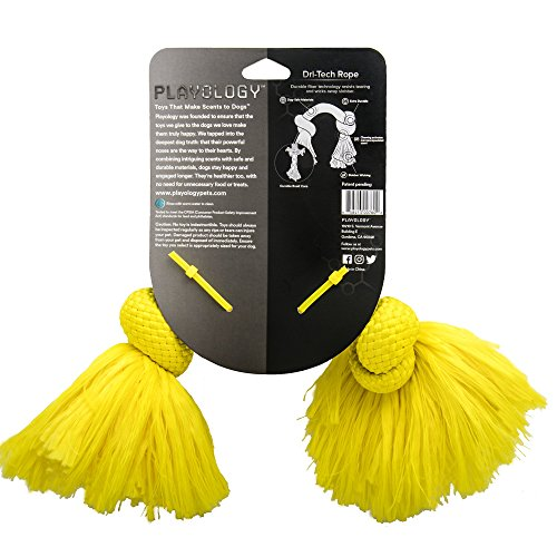 Product image of Playology Dri-Tech Rope Dog Toy Chicken Scent, Medium, Yellow