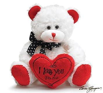 U0026quot;I Love Youu0026quot; 8u0026quot; White Valentine Bear ...