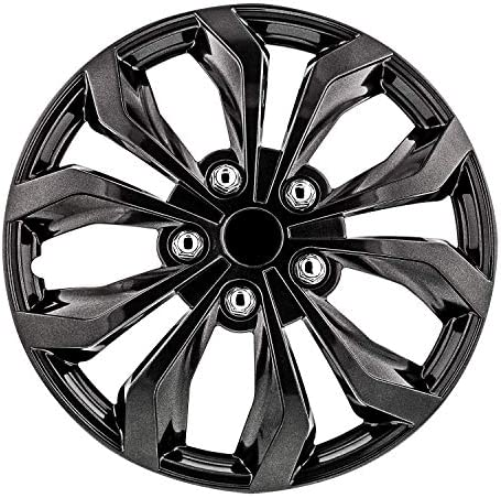Pilot Automotive WH555-16GM-B 16 Inch 16″ Universal Fit Spyder Wheel Cover | Set of 4 | Fits Toyota Volkswagen VW Chevy Chevrolet Honda Mazda Dodge Ford and Others