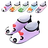 Baby Water Shoes Aqua Socks Toddler Beach Wet Shoes for Pool Swimming Early Walking(Panda 24-25)