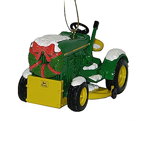 Kurt Adler John Deere 1963 Model 110 Tractor With Wreath Christmas - Ornament Deere John Tractor