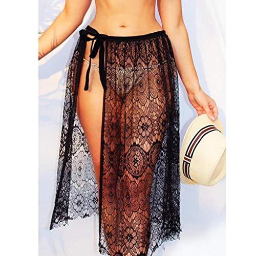 Hollow lastique Femmes Jupe Courte Jupe Lace Noir ESAILQ Sexy Out YEAFqcdxHw