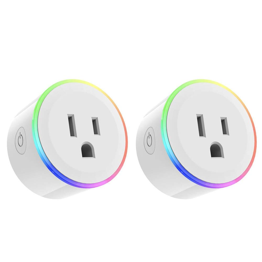 Docooler Mini Smart Socket Electric US Plug Power Adapter LED Dimmable Light WiFi APP Remote Control with Alexa Smart Google Home Voice Control Socket