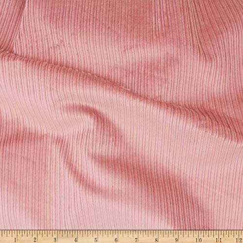 (Telio 8W Stretch Cotton Corduroy Fabric, Pink, Fabric By The Yard)