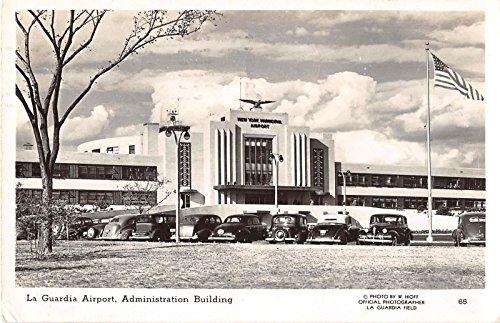 (New York City New York La Guardia Airport view of Admin Bldg real photo pc Z3438 )