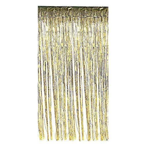 2 Pack 3' x 8' Metallic Gold Tinsel