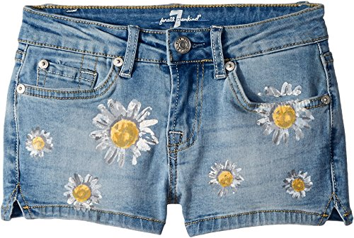 7 For All Mankind Kids Womens Daisy Short Shorts (Big Kids) Vintage Air Light 12 Big Kids One Size