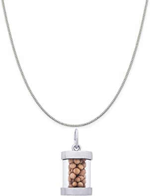 Box or Curb Chain Necklace Rembrandt Charms Sterling Silver Exciting 19 Charm on a 16 18 or 20 inch Rope