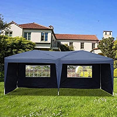 MISC 10'x20' Pop Up Foldable Wedding Party Gazebo Canopy Tent W/4 Walls Blue: Home & Kitchen
