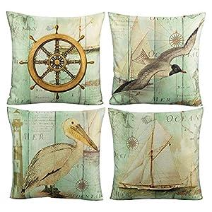 51p5j8Fh%2B2L._SS300_ 100+ Nautical Pillows & Nautical Pillow Covers