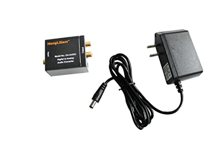 Digital Coaxial Toslink Optical to RCA Analog Audio Converter with DC5V Power Adapter Output