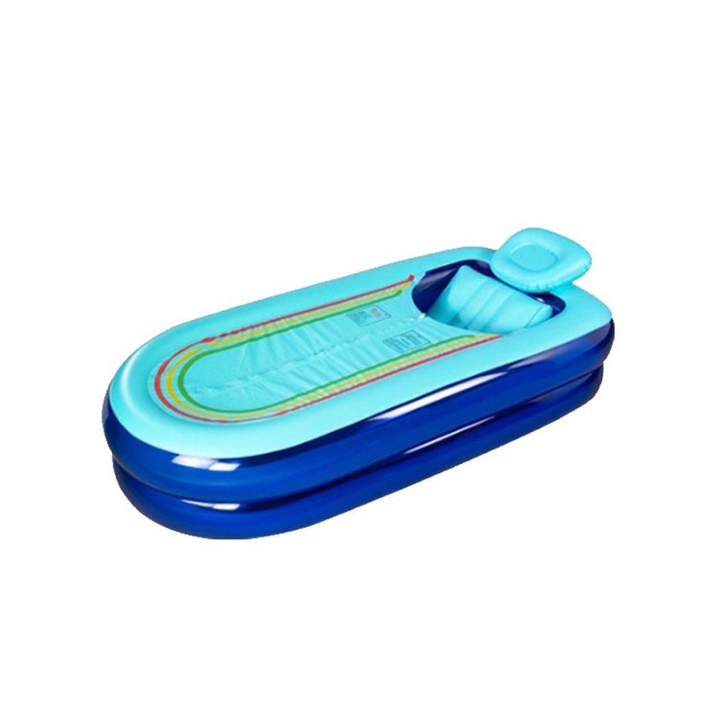 AMINSHAP Aufblasbare Badewanne Isolierung verlängert Erwachsene große Yards Dicker Badewanne Kunststoff Falten Bad Eimer mit Rückenpolster 168  78  45 cm
