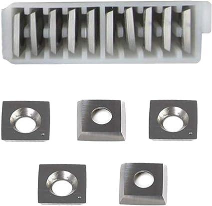 RTing/15mm .591 paquet de 10 Plaquettes de coupe carr/ées en carbure avec un rayon de 0,5 mm pour outils de travail du bois