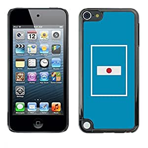 Design for Girls Plastic Cover Case FOR Apple iPod Touch 5 Flag Nation Country Blue Minimalist OBBA