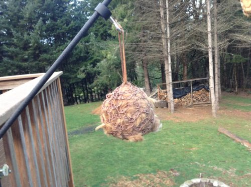 Wild Bird Nest Building Alpaca and Wool Filled Hemp Bag with Leather String (Building Bird Nest)