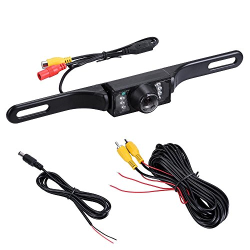 Yescom Car Rear View CMOS Reverse Backup Camera w/ 480TVL Infrared 7 LED Night Vision For Sale