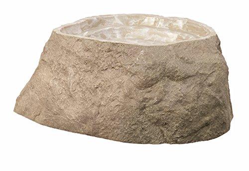 Outdoor Essentials Faux Birdbath Rock, Tan, Medium